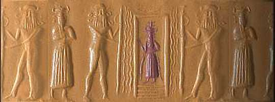 8b - Gibil, earthling worker, Enki, & another worker in the mines