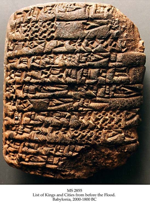 Babylon artefact - list of antediluvian kings documented from before the flood