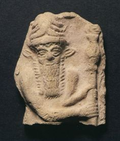 Enkidu relief, Gilgamesg's companion on his long journey, his equal in strength, sentenced to death by Enlil for the killing of Humbaba