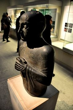 Gudea statue, the Lagash king from 2,144 B.C.