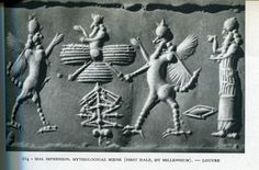 38 - Enki, Anu in his sky-disc, & Enlil, Anu standing upon the Earth