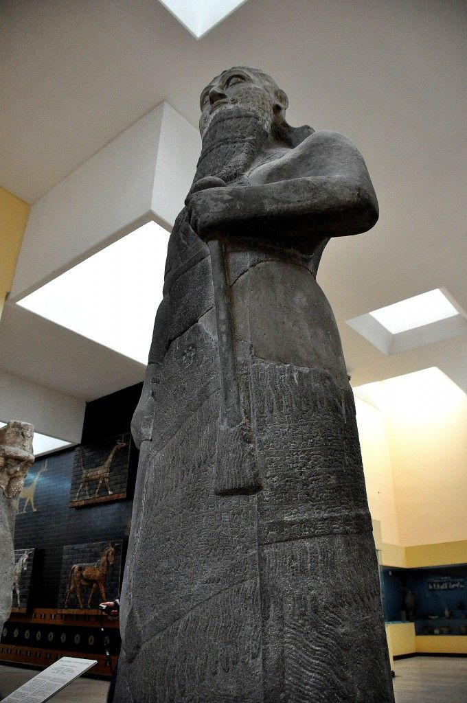 15e - mixed-breed mighty man & giant, King Shalmaneser III, statue placed in museum for safe keeping, but Radical Islam has shamefully destroyed thousands of these artefacts