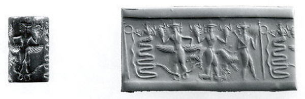 16 - Ningishzidda depicted with serpents on a seal