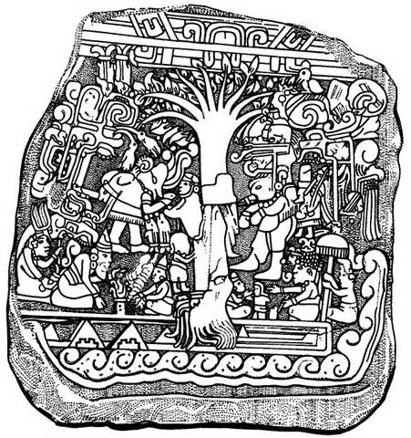 16 - bearded god seated with animal horn-rimmed hat