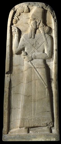 16d - mighty man Shamash-Adad V, giant mixed-breed Assyrian king, ruled 824-811 B.C., found at temple of Nabu in Nimrud