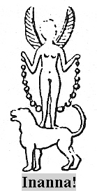 17 - Inanna atop her zodiac symbol Leo, was given her own skyship by great-grandfather King Anu