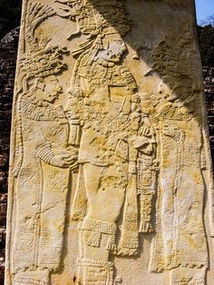 17 - Mayan giant on wall relief