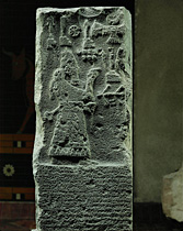 17b - giant mighty man Adad-nirari III on his obelisk, Assyrian king ruled 810-783 B.C.
