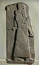 18 - Tiglath Pileser III, giant mixed-breed descendant-king of Assyria, ruled 745-727 B.C., a mighty man taller, stronger, faster, smarter, & lived longer than earthlings