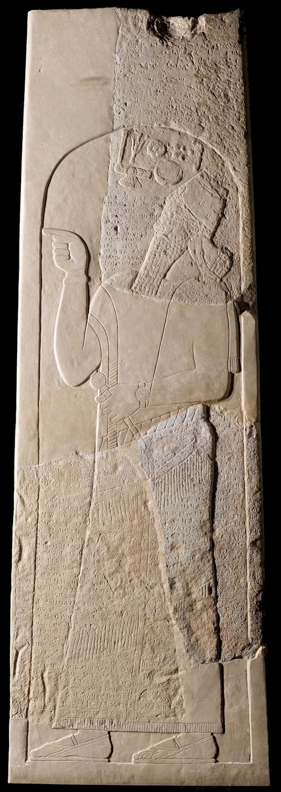 18 - Tiglath-pilser III stele, Assyrian mighty man ruling 745-727 B.C.