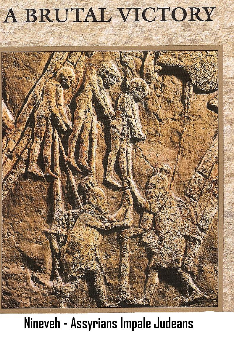 20l - giant Assyrian King Sennacherib impaled Judeans, Nineveh artefact