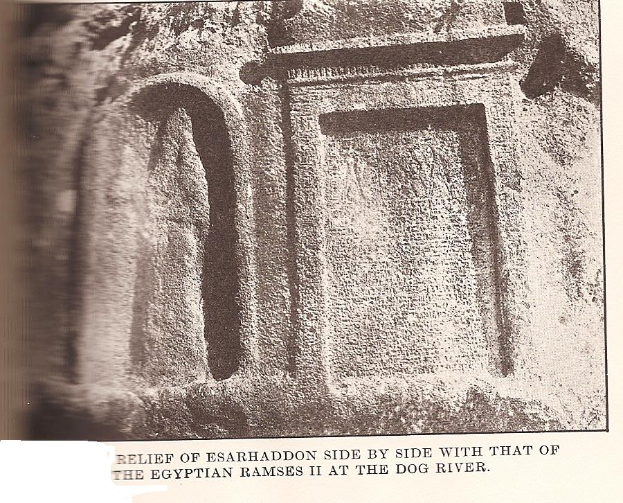 22k - King Esarhaddon tomb in mountainside, evidence of mighty men giants upon the Earth