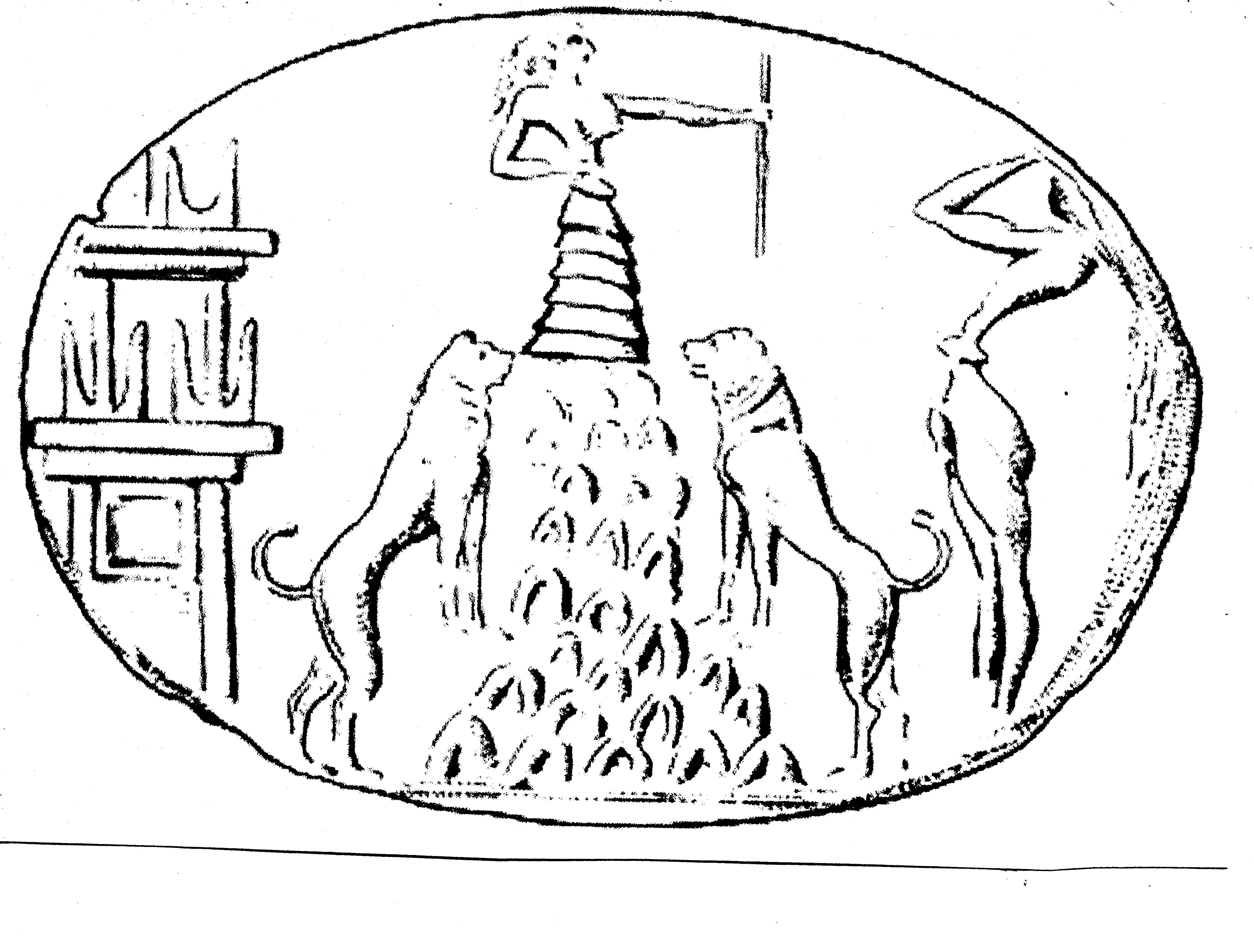 26 - Inanna & her symbol of  lions