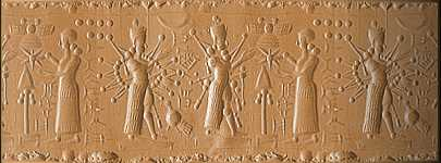 28 - Inanna & Ninurta with alien high-tech weapons, & Ninhursag cautioning them from their use