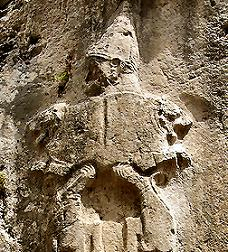 30 - Nergal, Yazilikaya, rock wall relief artefact in Hattusha Turkey
