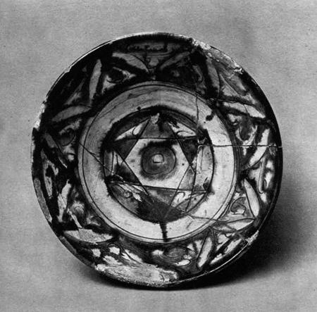 32 - Nabu's 6-pointed star symbol on ancient plates, pottery, etc.