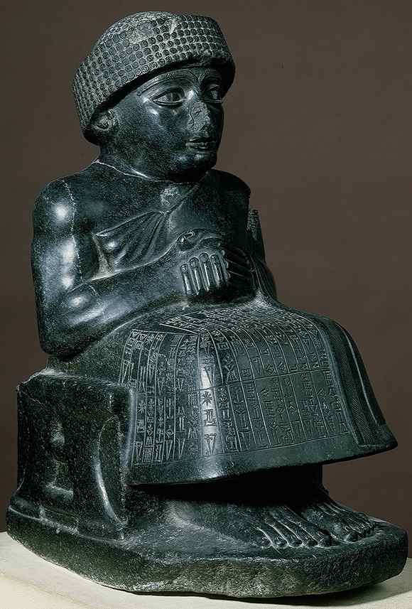 3c - High-Priest & King Gudea of Lagash seated on his throne