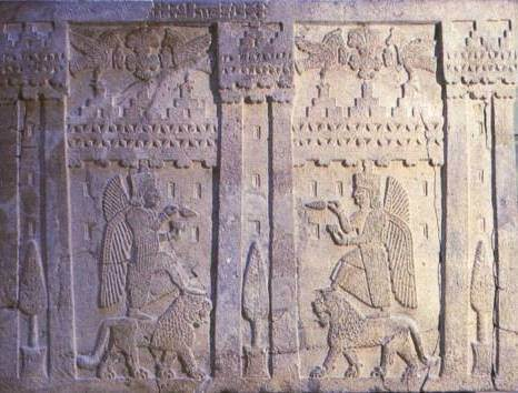 4 - Inanna atop her lion symbol of Leo