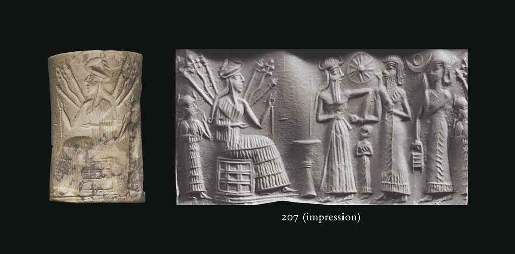 45 - Ninshubur, Inanna, Utu, king, & unidentified