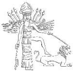 6 - warrior goddess Inanna - Ishtar upon lion symbol