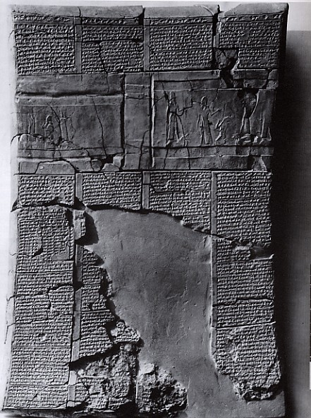 "6 - wall relief of Ninurta, Ashur, Assyrian ""mighty man"" King Tukulti-Ninurta, & Adad, a time when the gods walked with man"