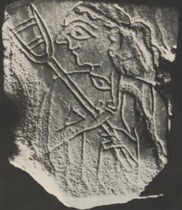 6e - Nippur artefact, woman with a tool