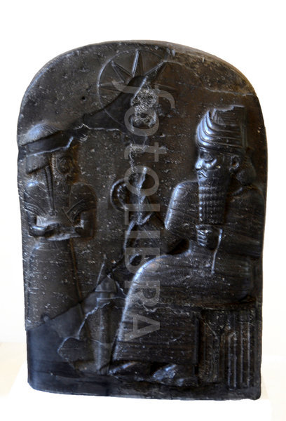 72 - Babylonian stele of it's king & alien giant Utu