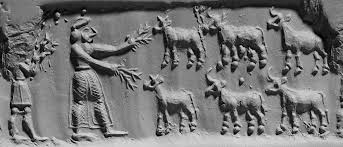 8 - Dumuzi the Shepherd loyally feeding his flocks, later teaching Biblical Abel to assist him