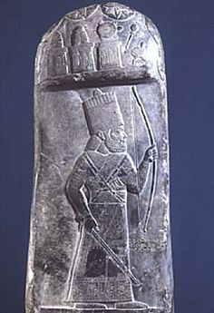 80c - Marduk-nadin-ahhe on stele with symbols of the gods