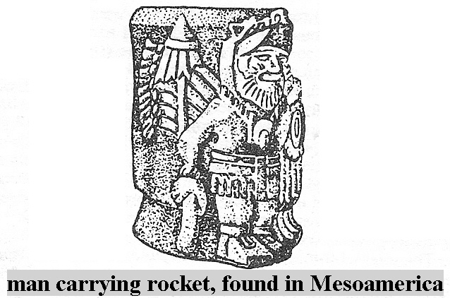 9 - Man With Rocket in Mesoamerica