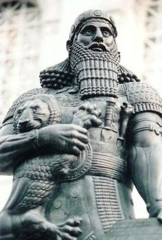 21 - the mighty man Assyrian King Ashurbanipal, ancient-Mesopotamia ancient artifact