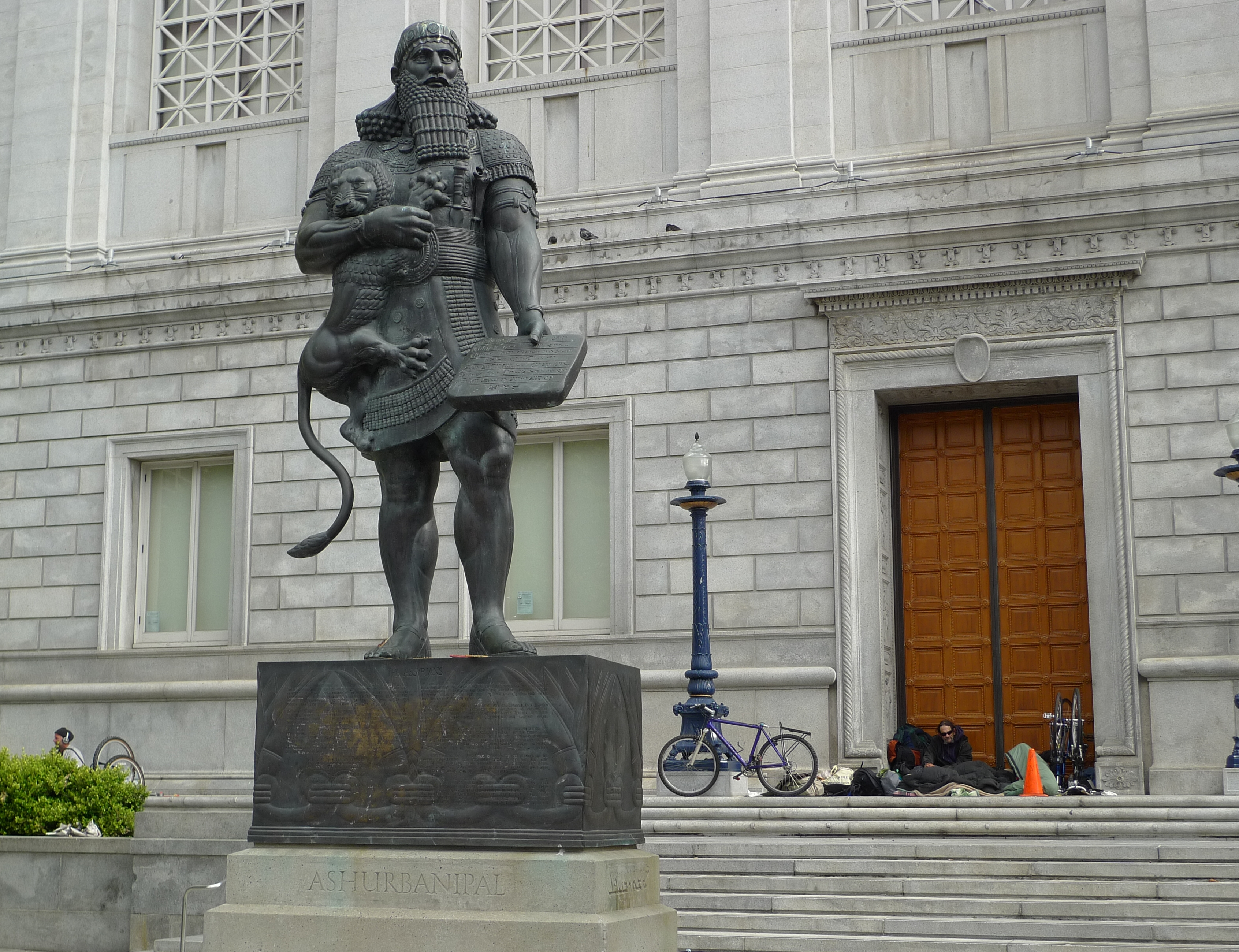 21 - giant Assyrian King Ashurbanipal, king-sized mighty man descendant of alien gods, ruled 668-627 B.C.