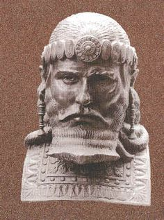 22 - Assyrian mighty man King Esarhaddon, ruled 681-669 B.C.
