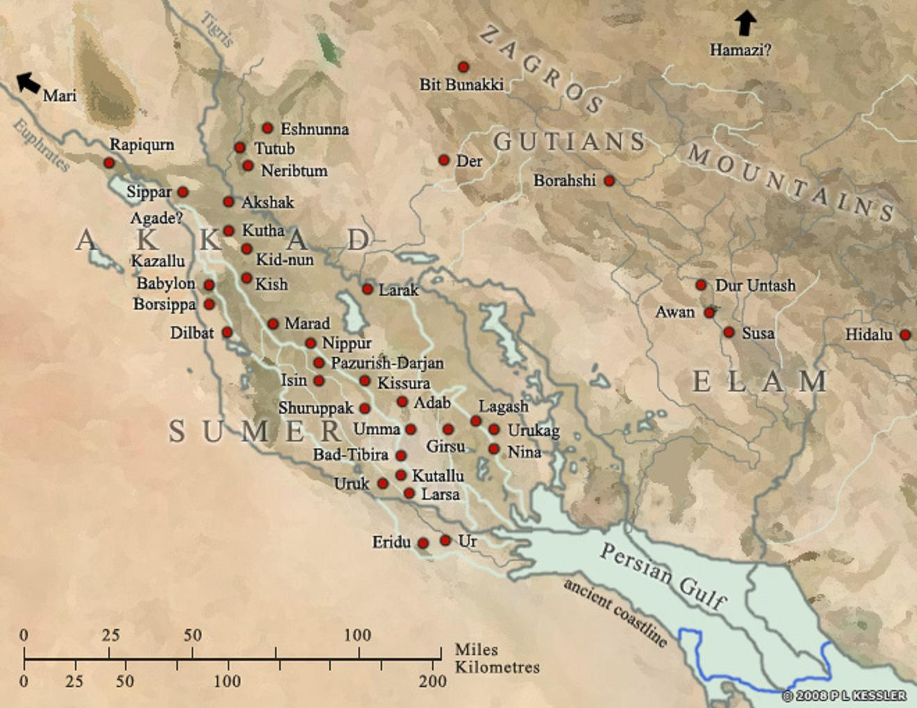 20 - Eridu on the Persian Gulf, Enki's patron city, the earliest city on Earth