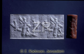 winged pilot warrior Ninurta, cylinder-seal
