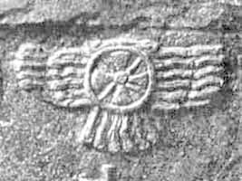 12 - winged sky-disk with Planet Nibiru Cross symbol