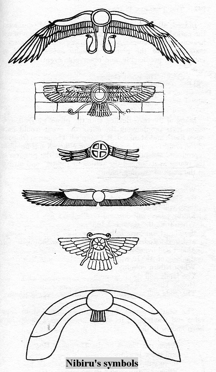 Symbols of planet nibiru the king anu god the father in 1e planet nibirus winged disc symbols buycottarizona