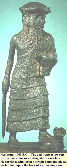 2a - Marduk statue artifact with him standing upon his constellation of Aires the ram