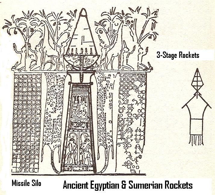 5 - ancient 3-stage rocket in missile silo, Egyptian artifact