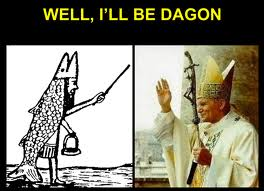 50 - Dagon & the Pope wearing the Fishes Suit - wet suit of Enki