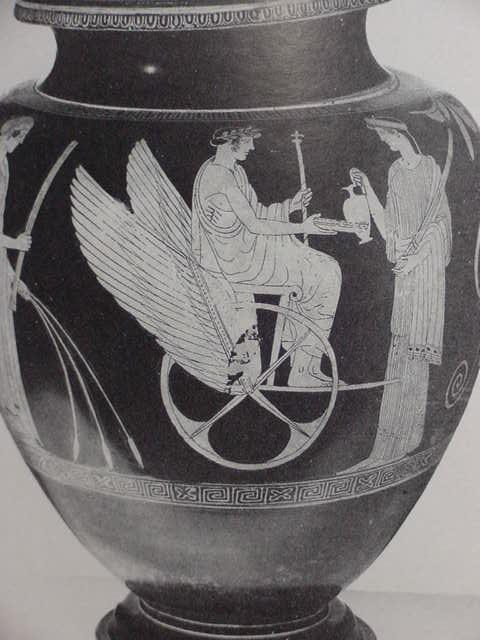 59 - Greek sky-god & goddess with his sky-chariot