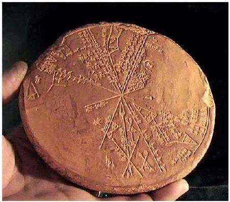 ancient artifact of a star map for alien travel