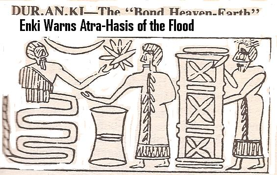 6 - Enki behind reed wall gives Noah a waterclock timer for when to enter the Ark