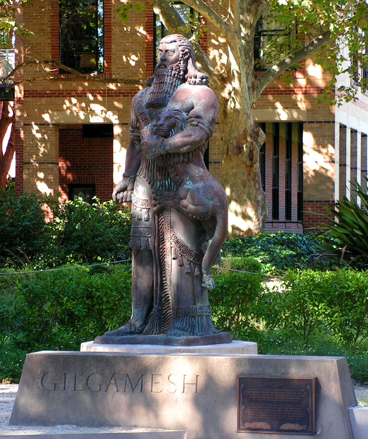 Gilgamesh statue prominently displayed at Univ. of Sydney